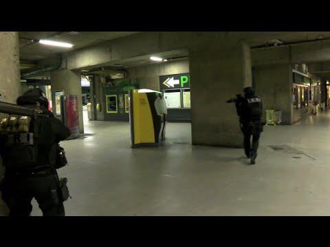 Exercice antiterroriste gare Montparnasse à Paris