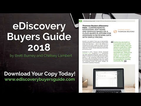 Thomson Reuters eDiscovery  Point- Interview with Ed Sohn and Amy Goin - eDiscovery Buyers Guide
