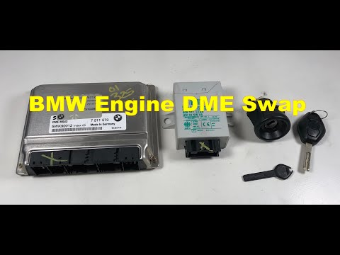 BMW E46 325 M54 Engine DME EWS Master Key Tumbler  Swap Part 1