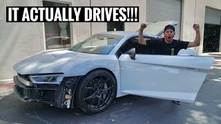 WRECKED Audi R8 Driving and goes to the Frame Shop!