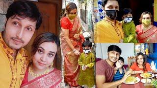PujoVlog # অষ্টমীর মহাধুমধাম! সোনাইয়ের ঠাকুর দেখা থেকে দুপুরে ভোগপ্রসাদ, কেমন কাটলো সারাদিন?