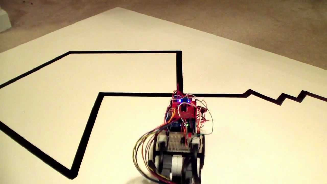 Arduino line follower robot test youtube