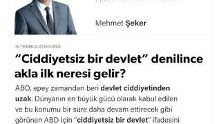 """Mehmet Şeker - """"Ciddiyetsiz bir devlet"""" denilince akla ilk neresi gelir? - 19.07.2019"""
