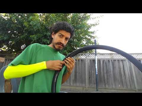 How to install tire, tube and tire liner to bike wheel