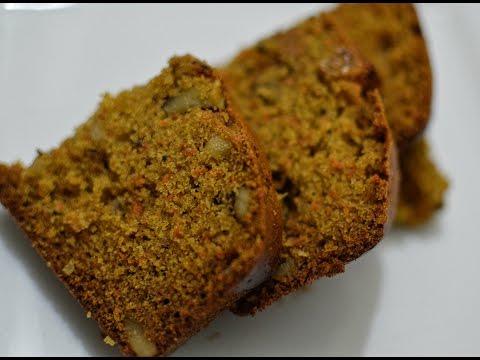 Sugarless Whole Wheat Carrot Honey Cake | Very Healthy & Tasty Cake Recipe
