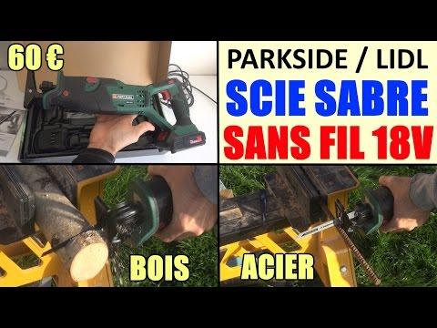 Scie Sabre Sans Fil Parkside Pssa 18 A1 Lidl Pendulaire