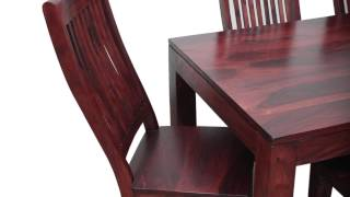 Solid Wood Dining Set With Beautiful Grain In 6 Seater | Made To Order Furniture