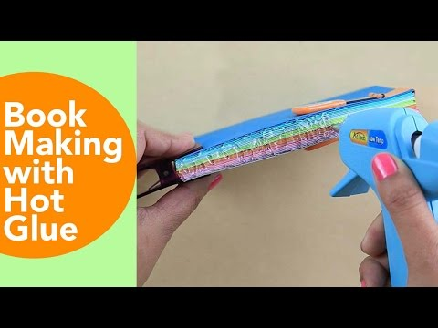 Book making with hot glue, Making books by hand, Book Binding, my happy project