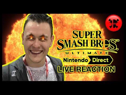 FULL LIVE REACTION to Super Smash Bros. Ultimate Direct 11.1.18   RogersBase Smash Direct Reaction