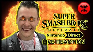 FULL LIVE REACTION to Super Smash Bros. Ultimate Direct 11.1.18 | RogersBase Smash Direct Reaction