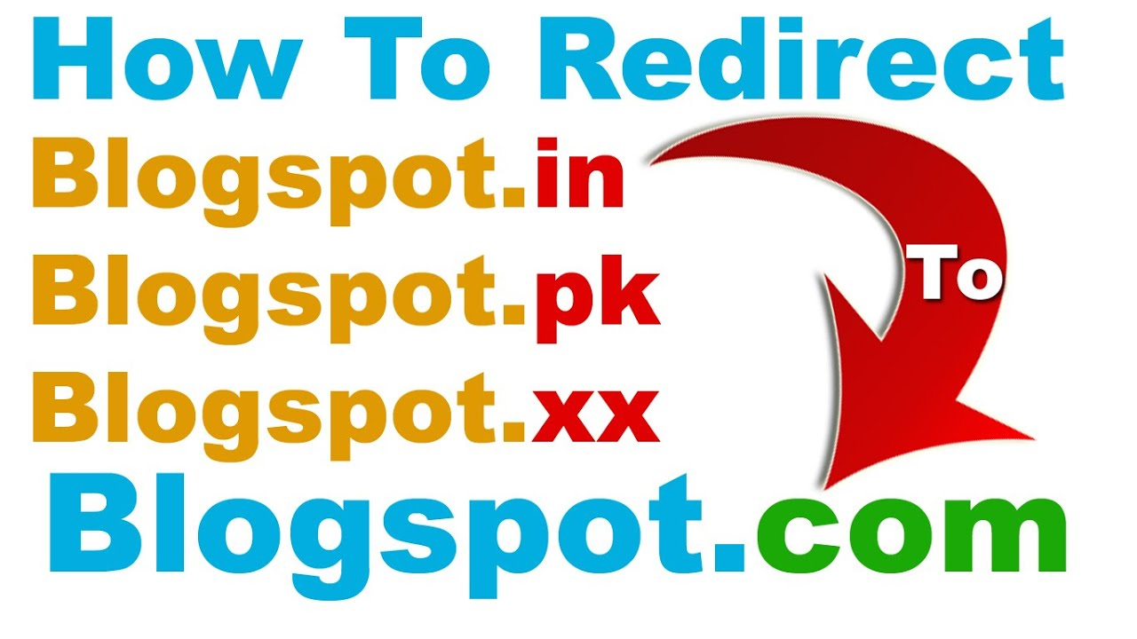 how to redirect blogspot in pk etc to blogspot com easily