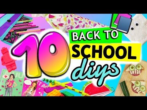 10 DIY Back to School Schulsachen | Bastelideen für die Schule | einfache SCHOOL SUPPLIES | DIY Kids