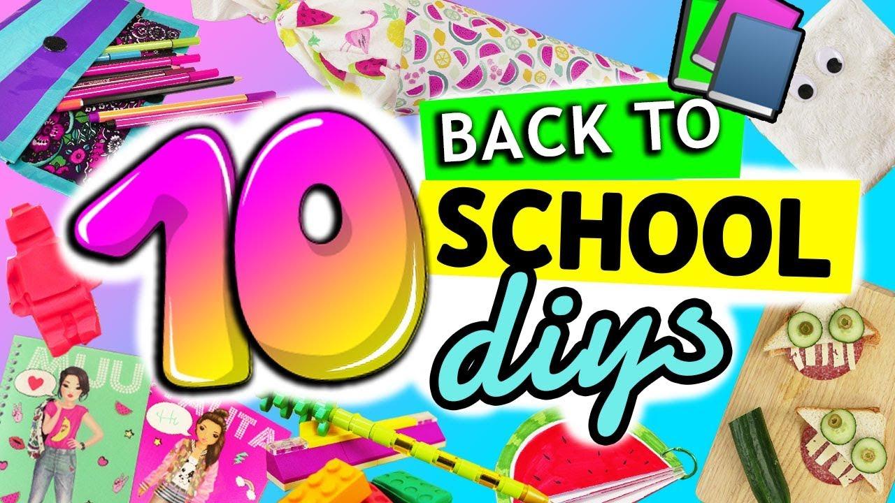 10 Diy Back To School Schulsachen Bastelideen Fur Die Schule