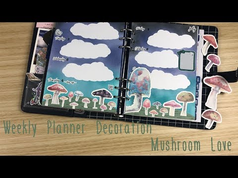 Weekly Planner Decoration - Mushroom Love