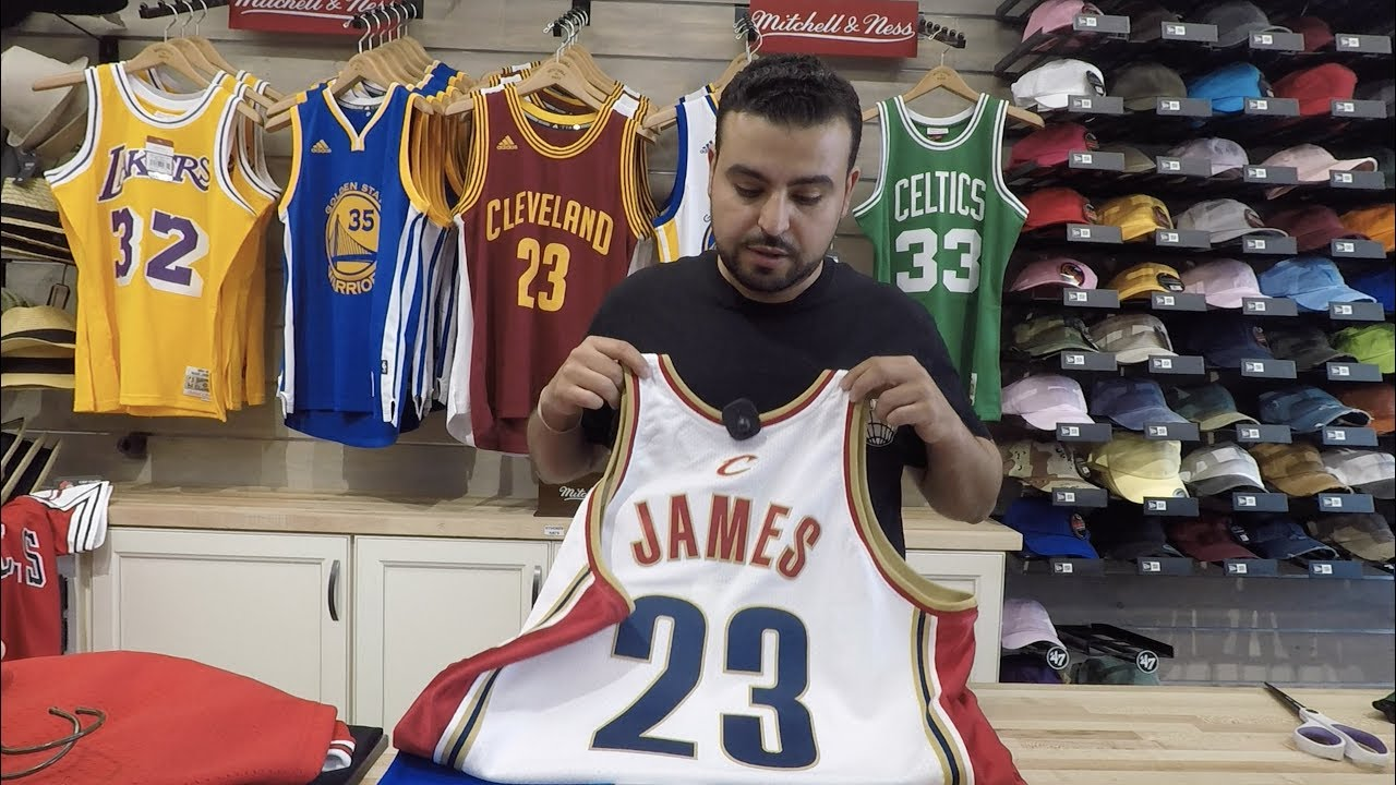 wholesale dealer f77b5 aa894 Lebron James Mitchell & Ness Authentic Jersey