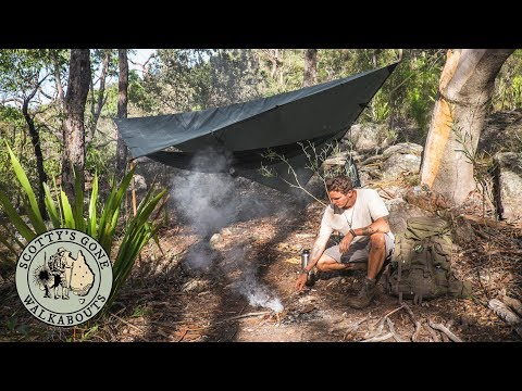 Solo Overnight Aussie Bush Camp- Discover Abandoned Hermit Hut.
