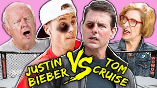 Elders React To Justin Bieber Vs. Tom Cruise UFC Fight? (Meme Compilation)