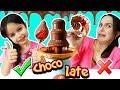 FUENTE DE CHOCOLATE CHALLENGE | Pulpo, pescado, brocoli, Mcdonals
