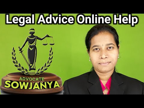 free legal advice online help in Telugu by advocate sowjanya in Hyderabad