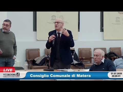 Consiglio Comunale di Matera 21 gennaio 2020