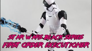 Star Wars The Last Jedi Black Series FIRST ORDER STORMTROOPER EXECUTIONER Action Figure Toy Review