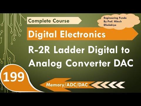 R-2R Ladder Digital To Analog Converter DAC (Voltage Switched Network), Digital Electronics, #R2RDAC