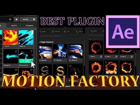 Review MOTION FACTORY Plugin For After Effects / AE Tutorial / 99+ Animations