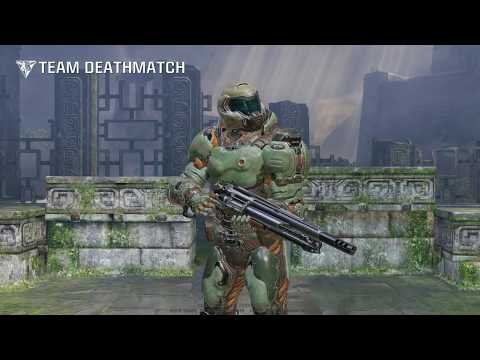 Quake Champions 1st DOOM Slayer Gameplay