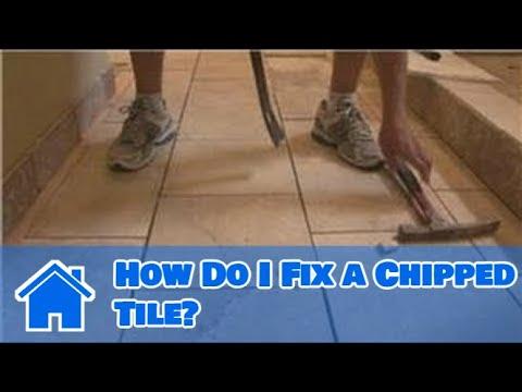 Tile Flooring How Do I Fix A Chipped Tile Youtube
