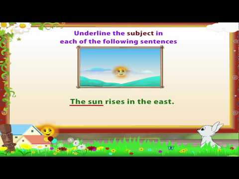 Learn Grade 3 - English Grammar - Subject and Predicate