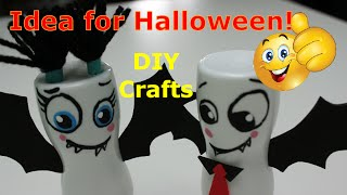 DIY Recycled Crafts Ideas for Halloween Two Cute Bats out of Plastic Bottles