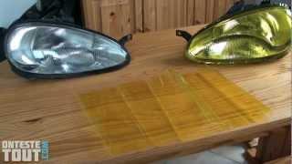 Lunaris2142 teste le vinyle transparent pour optique de phare made in china Ebay