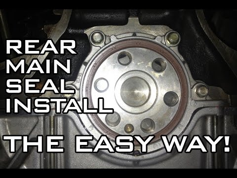 how to install your rear main crank seal in a mx5 miata