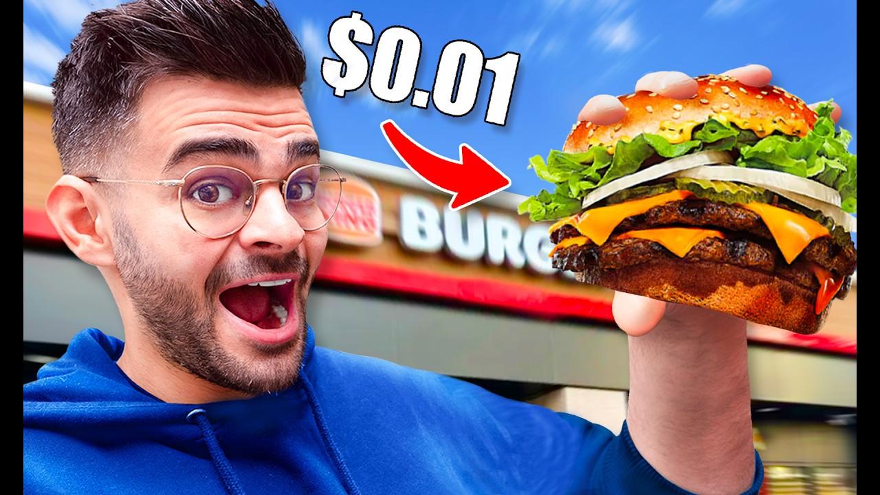Download 1 CENTIME POUR MANGER PENDANT 24H (McDo gratuit, Burger King...)