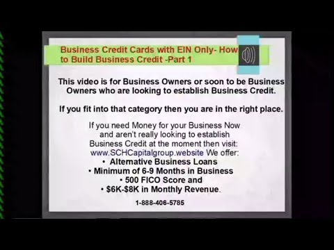 Business Credit Cards With Ein Only Part 1