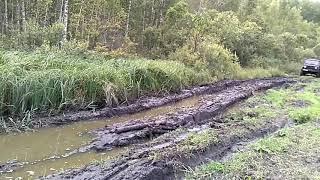 Уаз Хантер на 35 колесах по болоту