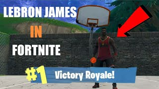 """Lebron James"" SKIN IN Fortnite (GAMEPLAY )"