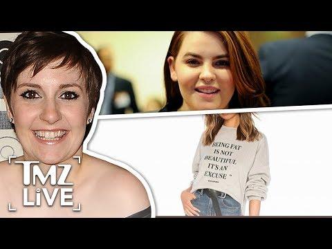 Lena Dunham: Fat Shaming Controversy  TMZ Live