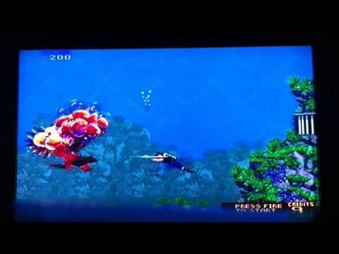 Thunder JAWS!  Amazing retro video game by ATARI-secret agent style shark attacks sexy women