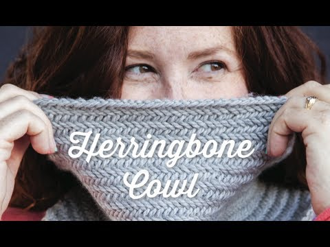 Knit Herringbone Cowl with pattern | 1 Hour Project Knitting Tutorial with Stefanie Japel