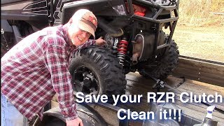 Saving your RZR Clutch - Keep it clean!