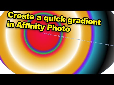 Affinity Photo : Create quick gradients tutorial thumbnail