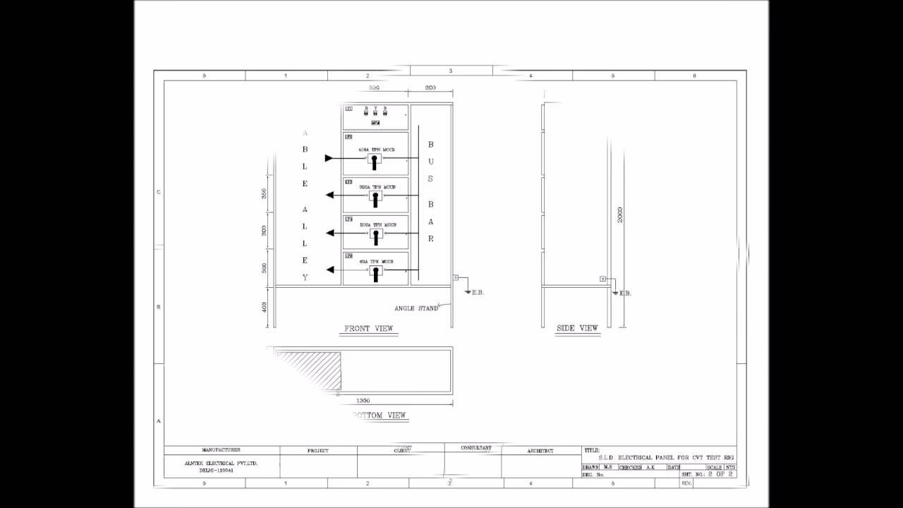 distribution panel drawing sample