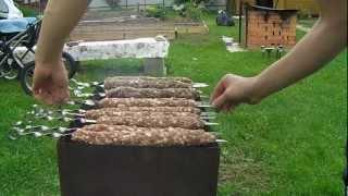 Кебаб любительский рецепт(Август 2012. В дополнение к видео: http://www.youtube.com/watch?v=gfst0Au5b_k Пытаюсь с максимальной точностью повторить видеоре..., 2012-08-27T17:27:26.000Z)