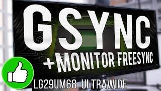 Testei o GSYNC em um monitor Freesync e FUNCIONOU! ... (LG 29UM68 Ultrawide + RTX 2060) thumbnail