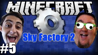 Minecraft Sky Factory 2 With @TheGiantWaffle! Ep 5