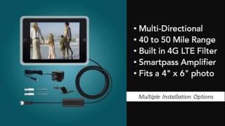 AT 204BB Antop Indoor HDTV Antenna Black Photoframe