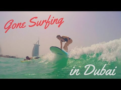 SURFING in DUBAI | 48 Hours of Beachlife | EMIRATES FLIGHT ATTENDANT