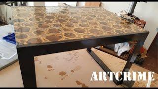 Artcrime #8 - DIY - Mesa de sobreiro com resina epoxi