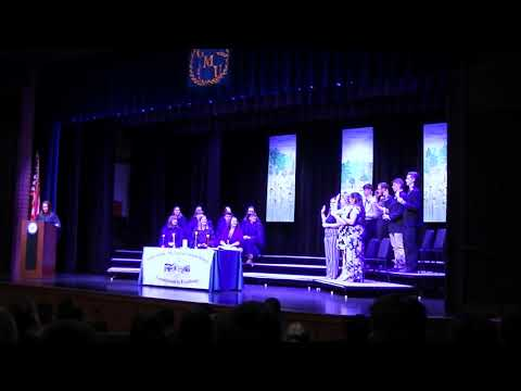 NHS Induction at GILBERTSVILLE-MOUNT UPTON High School   May 2019